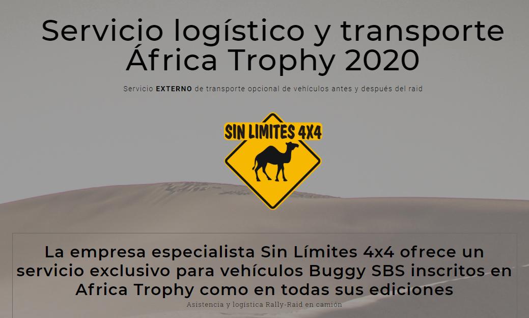 SERVICIO LOGÍSTICO Y TRANSPORTE EN ÁFRICA TROPHY 2020